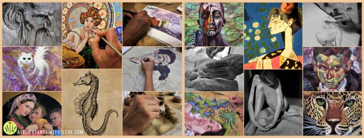 Quelques réalisations des élèves - Atelier Sandrine Follere Toulouse